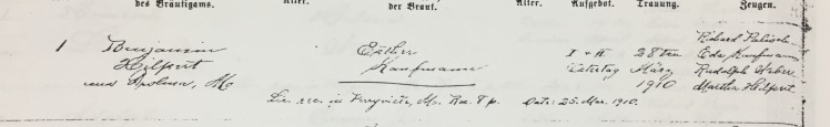 Hilpert Kaufmann marriage record Trinity Altenburg MO