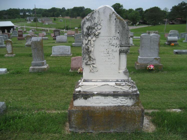 John and Mary Hooss gravestone Immanuel Perryville MO