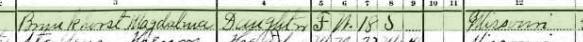 John Brunkhorst 1910 census 2 Brazeau Township MO