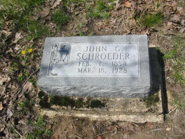 John Schroeder gravestone Holy Cross Crosstown MO