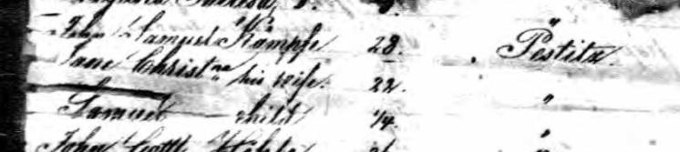 Kaempfe names Johann Georg passenger list 1839
