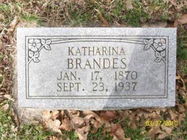 Katharine Brandes gravestone Grace Uniontown MO