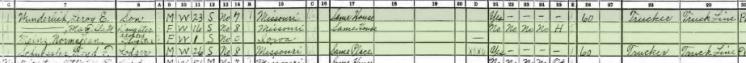 Leo Wunderlich 1940 census 2 Altenburg MO