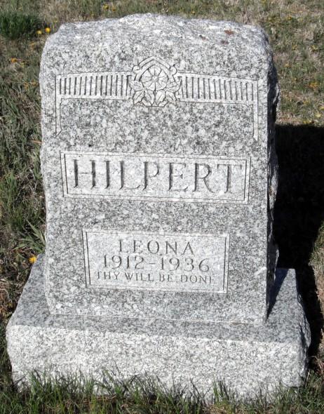 Leona Hilpert gravestone St. John's Gurley NE