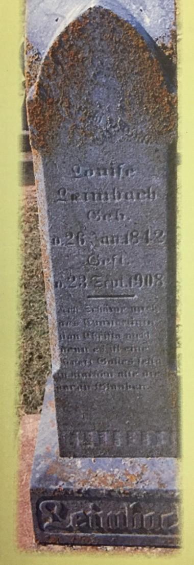 Louise Leimbach gravestone Immanuel Altenburg MO