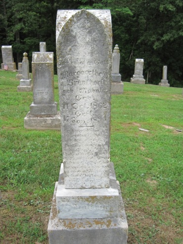 Margaretha Magdalena Brunkhorst gravestone Concordia Frohna MO