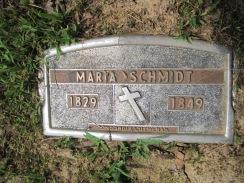 Maria Hain Schmidt grave marker Concordia Frohna MO