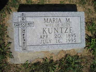 Maria Kuntze gravestone Trinity Altenburg MO