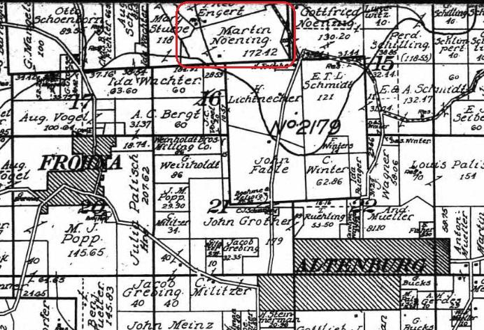 Martin Noennig land map 1915