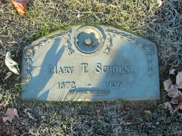Mary Schoen gravestone St. John's Pocahontas MO