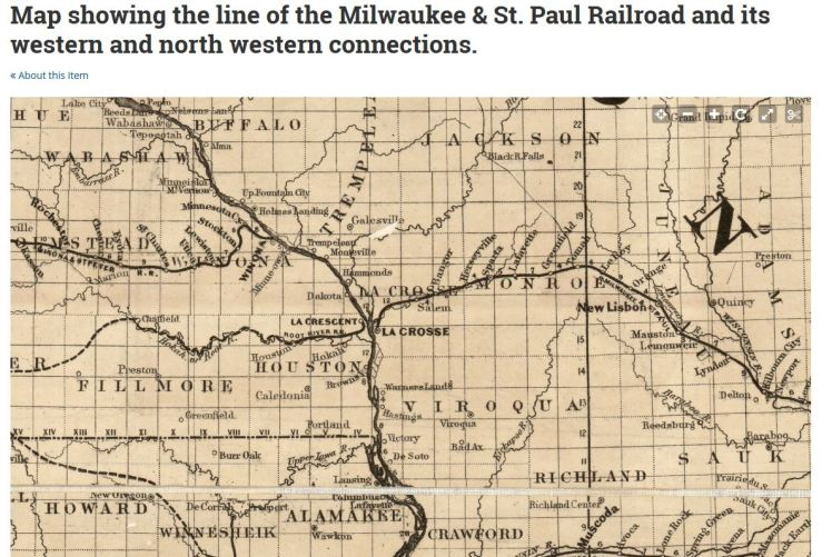 Milwaukee Road map 1865