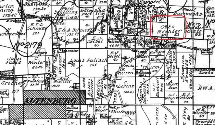 Otto Richter land map 1015