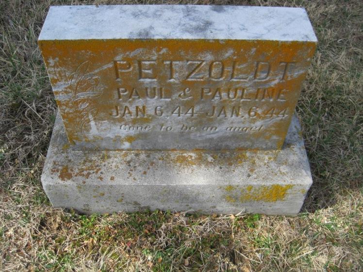 Paul and Pauline Petzoldt gravestone Immanuel New Wells MO