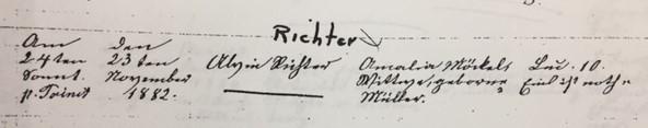 Richter Moeckel marriage record Trinity Altenburg MO