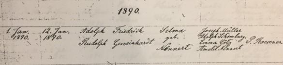Rudolph Gemeinhardt baptism record Trinity Altenburg MO