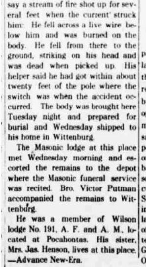Rudolph Gemeinhardt newspaper article about death 2