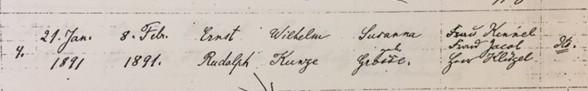 Rudolph Kuntze baptism record Trinity Altenburg MO