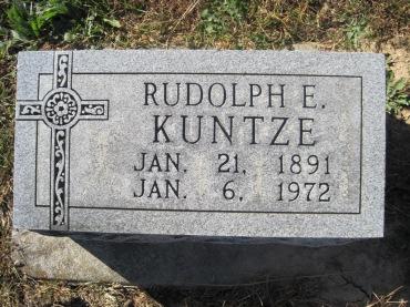 Rudolph Kuntze gravestone Trinity Altenburg MO