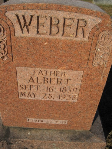 Albert Weber gravestone Immanuel Altenburg MO
