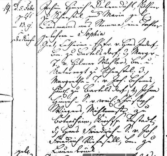 Anna Gerken baptism record Scheessel