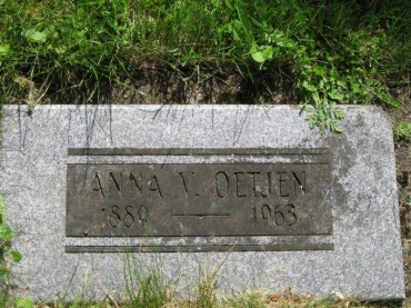 Anna Oetjen gravestone Zion Corvallis OR