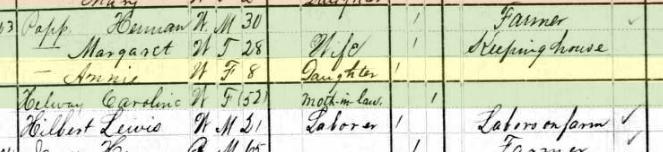 Anna Popp 1880 census Shawnee Township MO