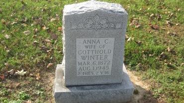 Anna Winter gravestone Trinity Shawneetown MO