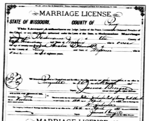 Bachmann Schmidt marriage license