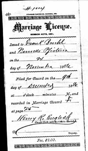 Bruhl Pfisterer marriage license