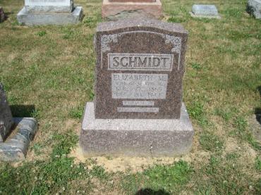 Elizabeth Maria Schmidt gravestone Trinity Altenburg MO