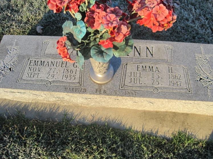 Emmanuel and Emma Wallmann gravestone St. John's Pocahontas MO