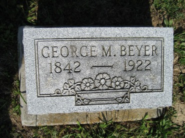 George Beyer gravestone - Trinity Altenburg MO