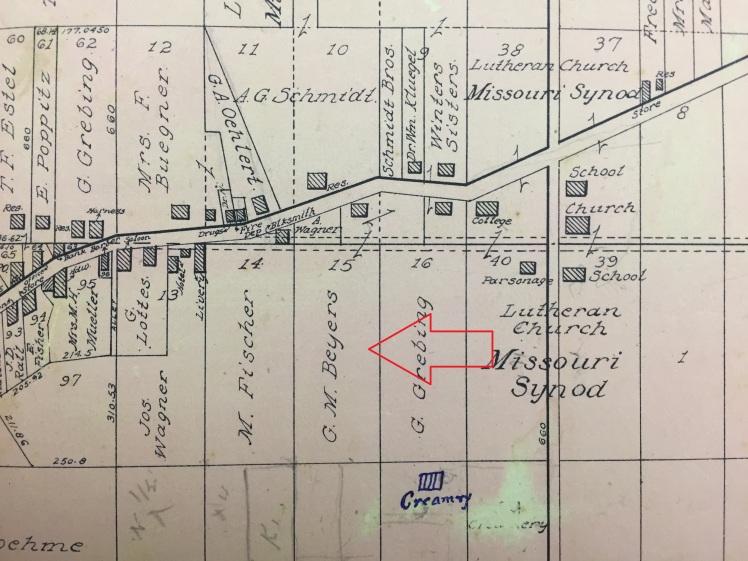 George Beyer land map 1915
