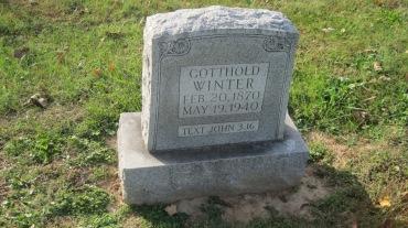 Gotthold Winter gravestone Trinity Shawneetown MO