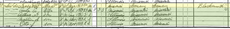 Gottlob Seibel 1900 census Fountain Bluff Township MO