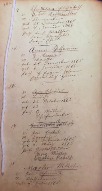 Gottlob Seibel baptism record Trinity Altenburg MO whole page