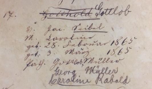Gottlob Seibel baptism record Trinity Altenburg MO