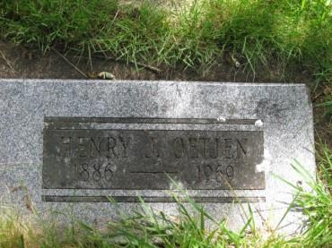 Henry Oetjen gravestone Zion Corvallis OR