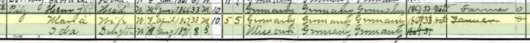Henry Pilz 1900 census Brazeau Township MO