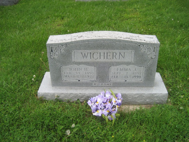 John and Emma Wichern gravestone Immanuel Perryville MO