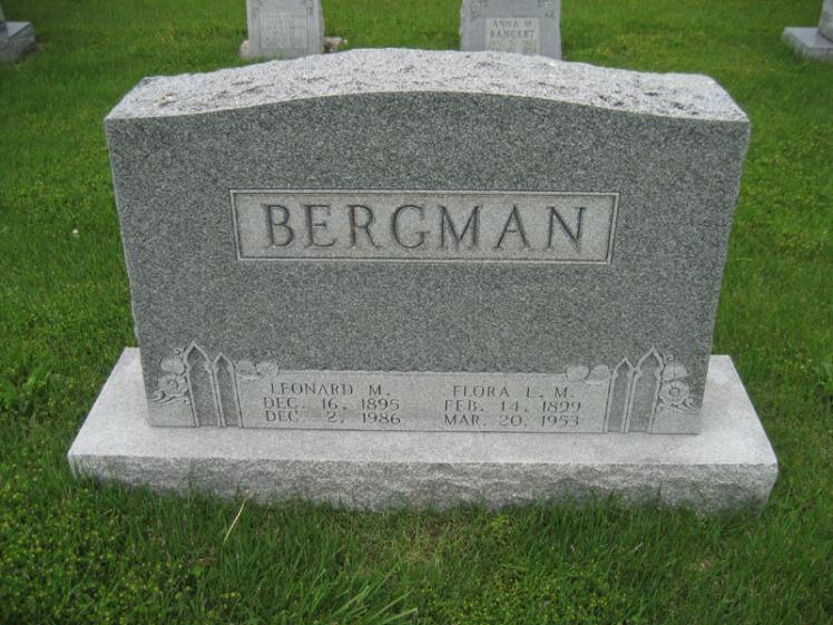 Leonard and Flora Bergmann gravestone Immanuel Perryville MO