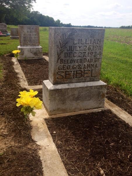 Lillian Seibel gravestone Immanuel Harrison IL