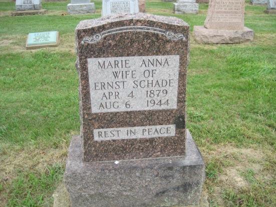 Marie Schade gravestone Concordia Frohna MO