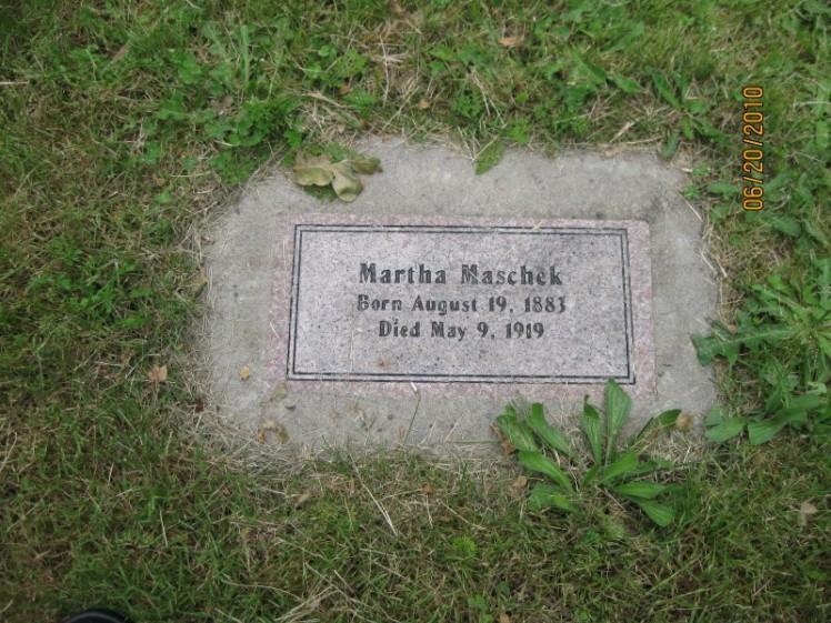 Martha Maschek gravestone Zion Corvallis OR