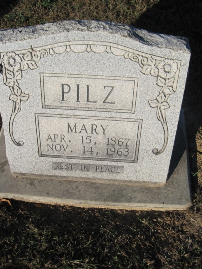Mary Pilz gravestone Immanuel Altenburg MO
