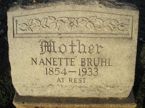 Nanette Bruhl gravestone St. John's Pocahontas MO