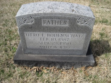Otto Bodenschatz gravestone Immanuel New Wells MO
