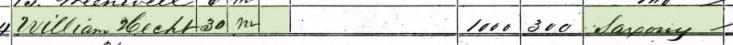 Pauline Hecht 1860 census 1 Brazeau Township MO