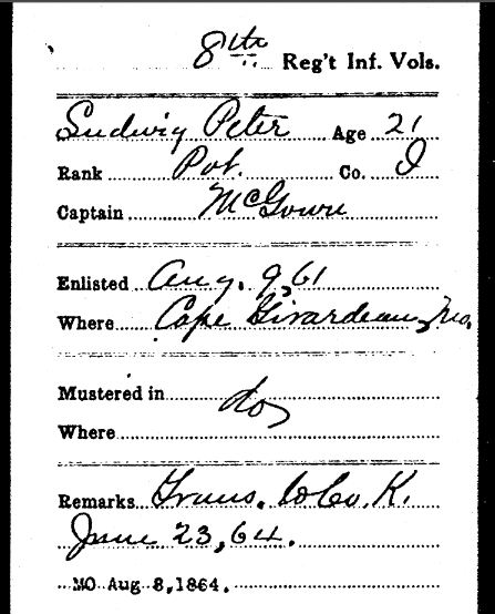 Peter Ludwig Civil War military record