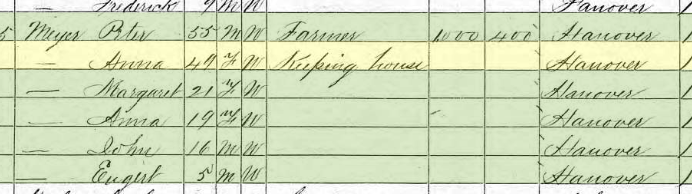 Peter Meier 1870 census Brazeau Township MO